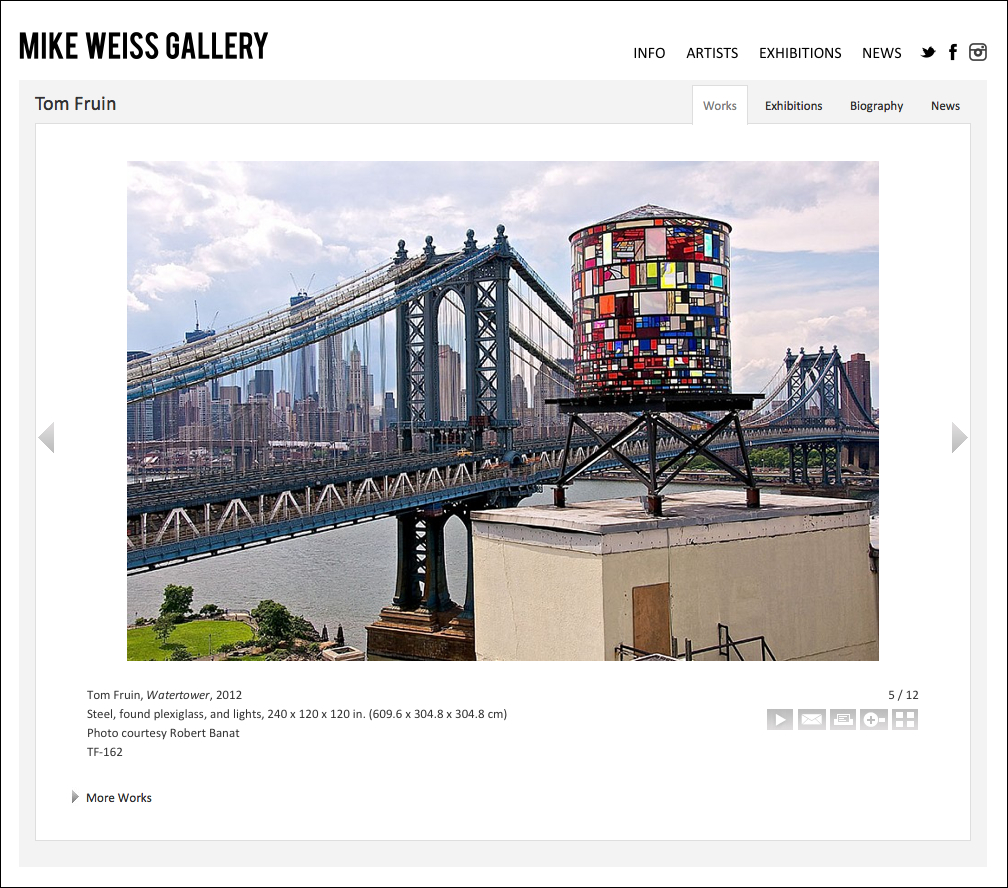 Website Work Detail View